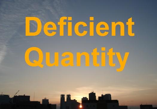 deficientquantity