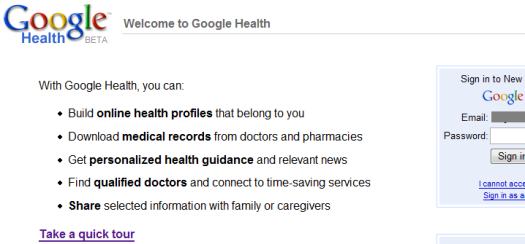 GoogleHealthLogin
