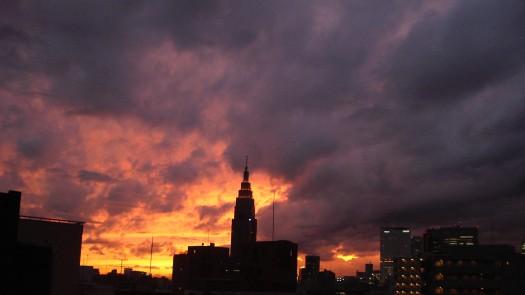 Shinjuku_Gyoenn_sunset0912